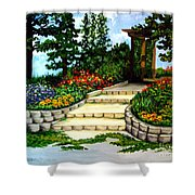 Trellace Gardens Shower Curtain