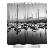 Tremblant Marina Shower Curtain