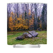 Trench Rocks Shower Curtain