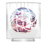 Trendy Design London Red Buses  Shower Curtain