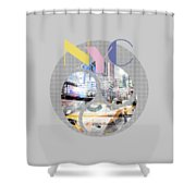 Trendy Design New York City Geometric Mix No 1 Shower Curtain