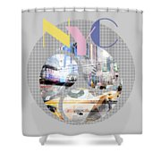 Trendy Design New York City Geometric Mix No 1 Shower Curtain by Melanie Viola