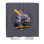 Trendy Design New York City Geometric Mix No 2 Shower Curtain