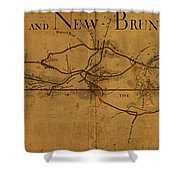 Trenton New Brunswick Turnpike 1800 Shower Curtain