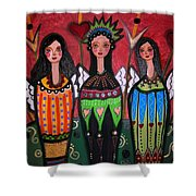 Tres Angelicas Shower Curtain