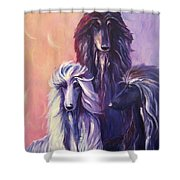 Tres Banditos Shower Curtain by Terry  Chacon