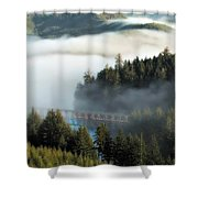 Trestle In Fog Shower Curtain