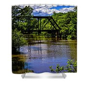 Trestle Over River Shower Curtain
