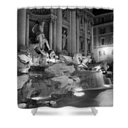 Trevi Fountain Night 2 Shower Curtain