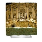 Trevi Fountain. Rome Shower Curtain