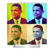 Trevor Noah Pop Art Shower Curtain