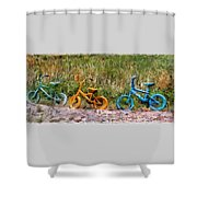 Tri Bike Shower Curtain