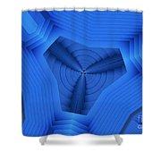 Tri Blues Shower Curtain