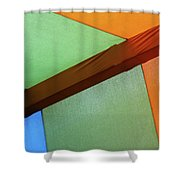 Tri Color Minimal  Shower Curtain