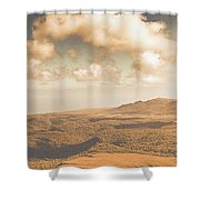 Trial Harbour Landscape Panorama Shower Curtain