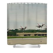 Triangle Take-off Shower Curtain
