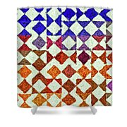 Triangles Impressionism Painting Shower Curtain