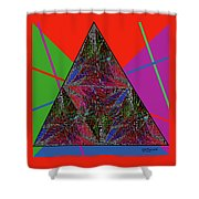 Triangular Thoughts Shower Curtain