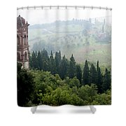 Triano With Pigeons Shower Curtain