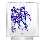 Tribal Dancers Shower Curtain