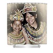 Tribal Girls Shower Curtain
