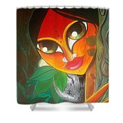 Tribal Lady Shower Curtain