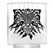 Tribal Lion Alpha Shower Curtain