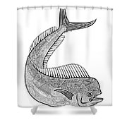Tribal Mahi  Shower Curtain by Carol Lynne