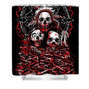 Tribal Massacre  Shower Curtain