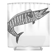 Tribal Ono Shower Curtain by Carol Lynne