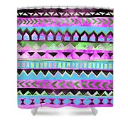 Tribal Pattern 01 Shower Curtain