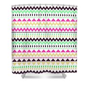 Tribal Pattern 02 Shower Curtain