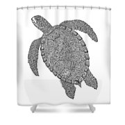 Tribal Turtle II Shower Curtain by Carol Lynne