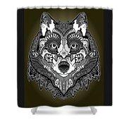 Tribal Wolf Shower Curtain