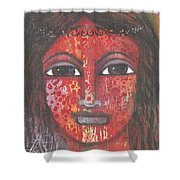Tribal Woman Shower Curtain