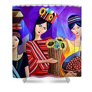 Tribal Women Shower Curtain
