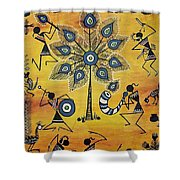 Tribals II Shower Curtain