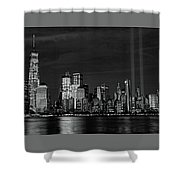 Tribute In Light  # 7 - B  And  W Shower Curtain