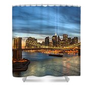 Tribute In Light I Shower Curtain by Clarence Holmes