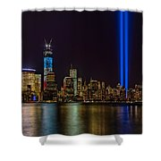 Tribute In Lights Memorial Shower Curtain by Susan Candelario