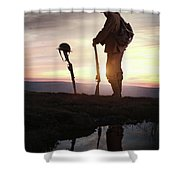 Tribute To A Fallen Comrade World War One Shower Curtain