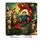 Tribute To Animal House Shower Curtain
