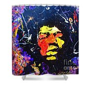 Tribute To Jimi Hendrix Shower Curtain