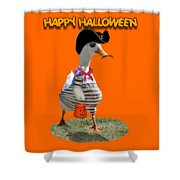Trick Or Treat For Cap'n Duck Shower Curtain