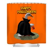 Trick Or Treat For Count Duckula Shower Curtain