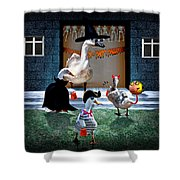 Trick Or Treat Time For Little Ducks Shower Curtain