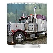 Trick Transport Peterbilt Shower Curtain