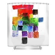 Trickle Down Effect Shower Curtain
