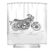 Trickley Triumph X75 Shower Curtain