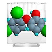 Triclosan Molecule Shower Curtain